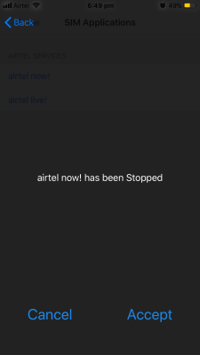 Disable pop up Flash Message - Airtel iPhone, Android Phone