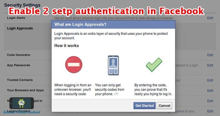 ENABLE TWO STEP AUTHENTICATION ON FACEBOOK