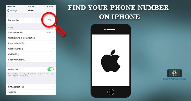 Find your own mobile number on iPhone