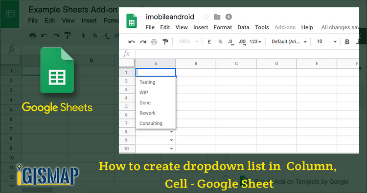 How to create dropdown list in Column, Cell