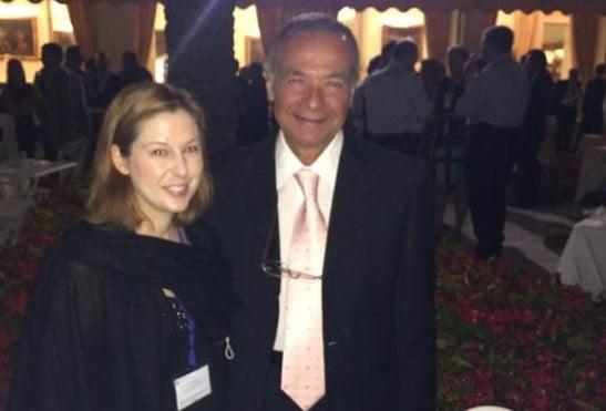 Elisa Fangareggi con il prof. Fausto Pocar, presidente dell'International Institute of Humanitarian Law