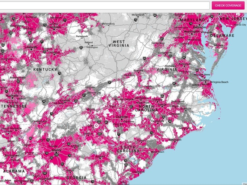 T Mobile uses  real time customer experience  for its new coverage     T Mobile Coverage Map