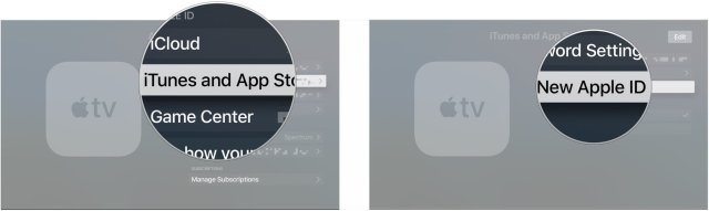 Click iTunes and App Store, click Add new Apple ID