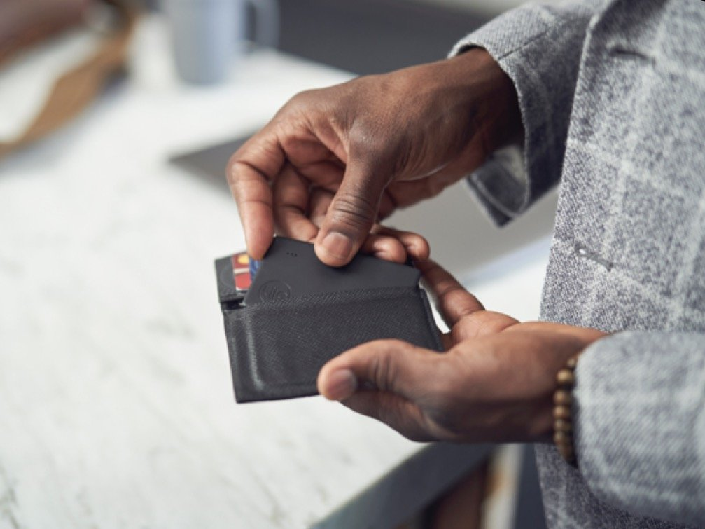 slim tracker the size of a credit card