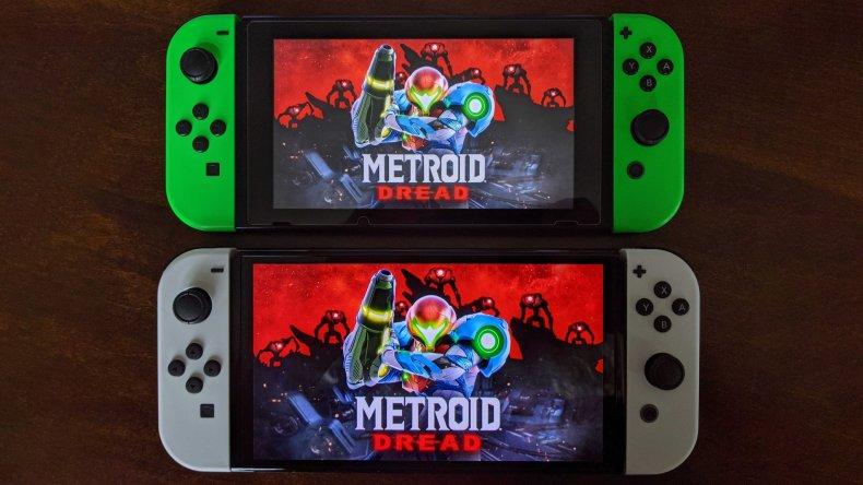 Nintendo Switch Oled Model Next To Switch V