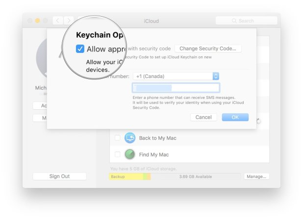 Click the checkbox next to Allow approving with security code