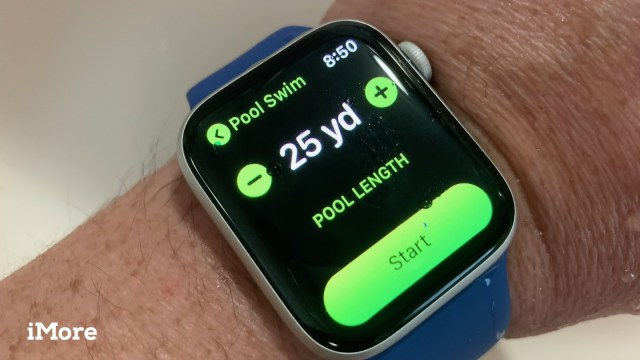 Apple Watch series 4 swimming