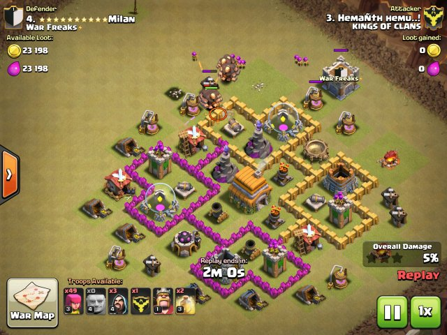 clash of clans - attacking