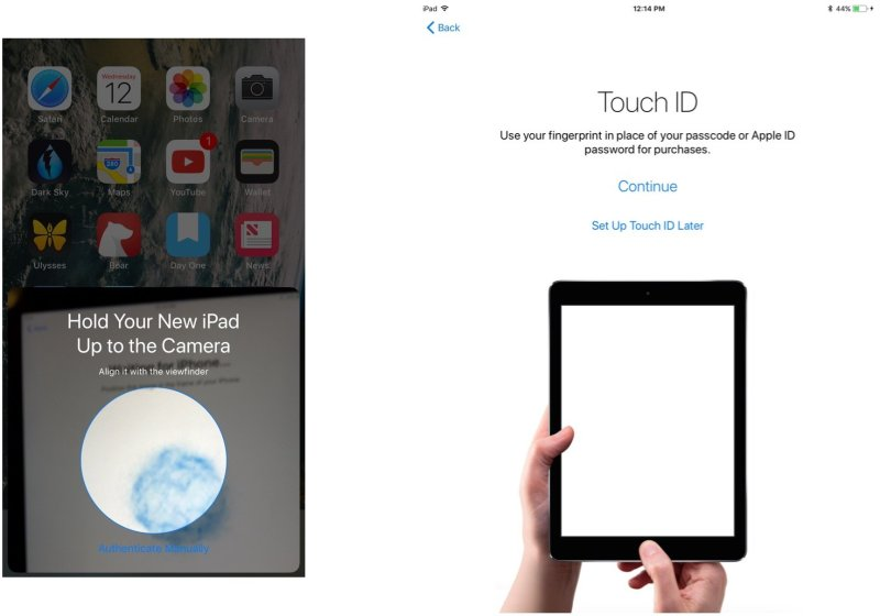 Scan the image, enter passcode, setup Touch ID