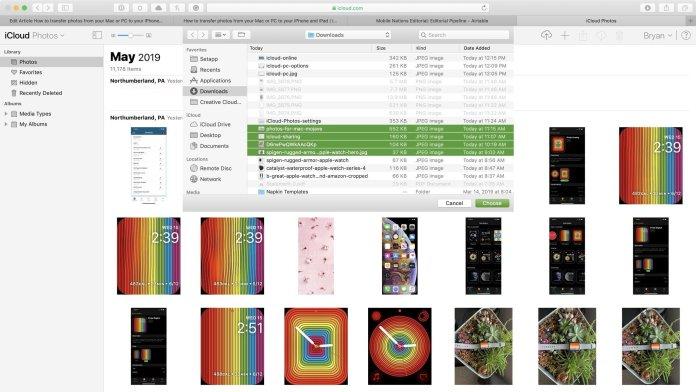 update photos to iCloud online
