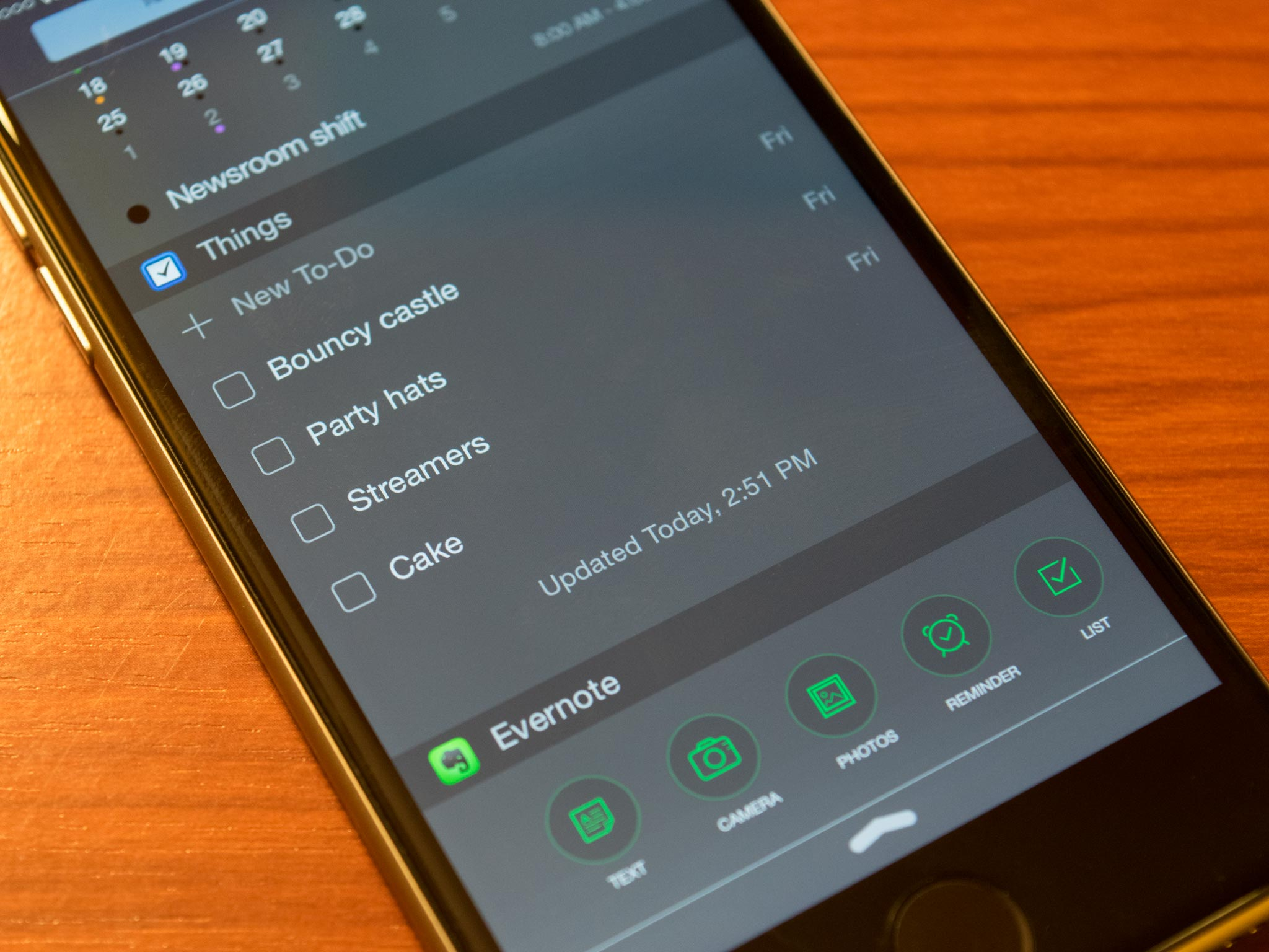 Things for iPhone and iPad updated with Notification Center widget, more