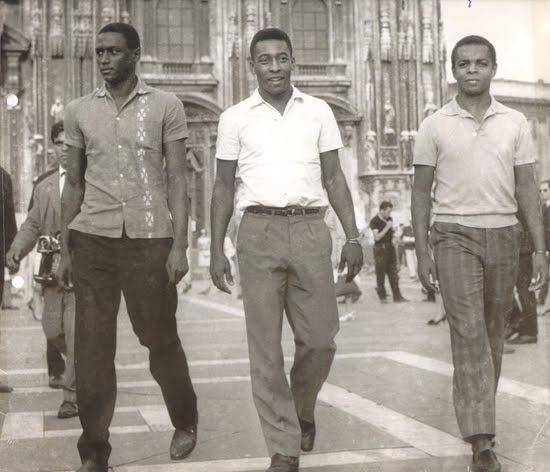 santos 1963 - jogadores na itália