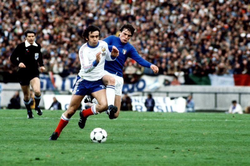 Soccer - World Cup Argentina 78 - Group One - Italy v France