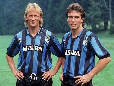 Brehme e Matthäus: alemães fizeram história na Inter.