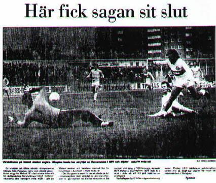 Jornal sueco destaca vitória do Olimpia no Mundial de 1979.