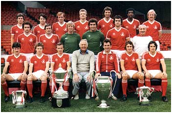 O Nottingham e a coleção de taças de 1979.