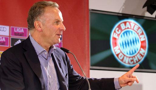 Como dirigente, Rummenigge segue marcando importantes gols pelo Bayern.