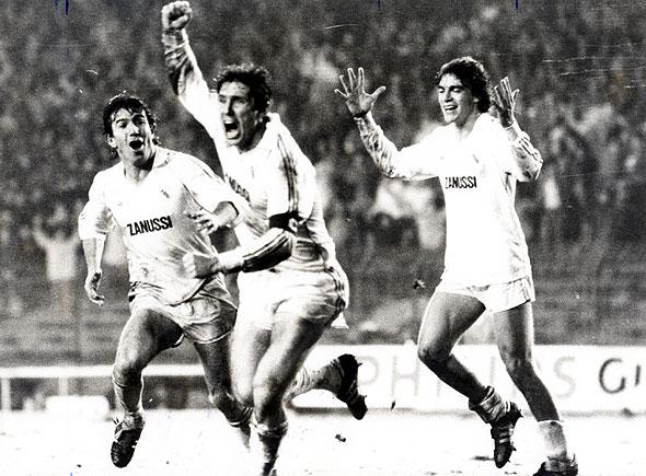 Santillana vibra: o Santiago Bernabéu pulsou como nunca naquelas noites de anos 80.