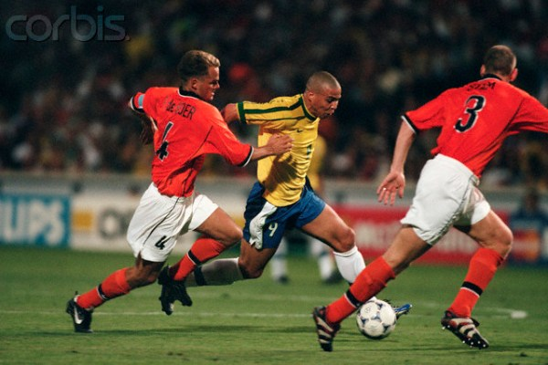 Soccer - 1998 World Cup - Semi-Final - Brazil vs Netherlands