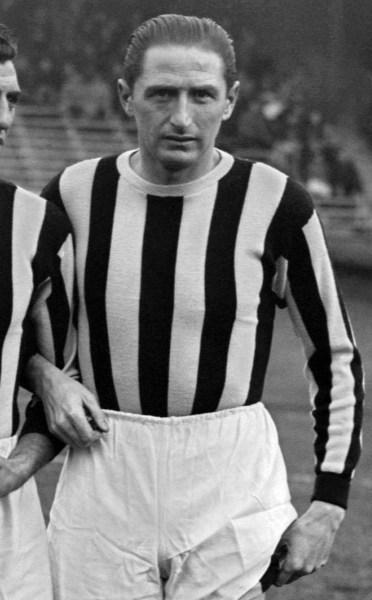 Portrait of Juventus Turin's forward Silvio Piola