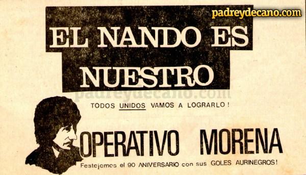 Em 1981, a torcida carbonera ajudou a diretoria do clube a repatriar o craque Morena, que estava no futebol espanhol na época.