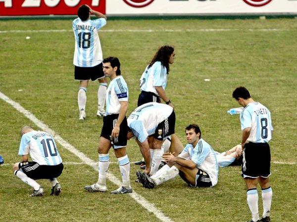 ... E decepção argentina.
