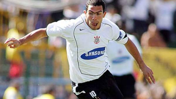 Tévez: principal nome do Corinthians em 2005 e autor de 20 gols no Brasileiro daquele ano.
