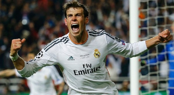 Depois de perder três gols, Bale usou a cabeça para marcar o gol que praticamente selou a décima taça europeia do Real.