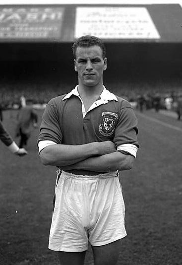 Com a camisa de País de Gales, em 1954.