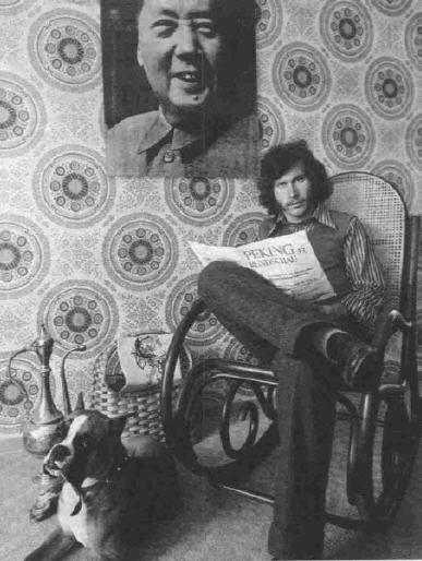 O politizado Breitner ao lado da fotografia de Mao Tsé-Tung.