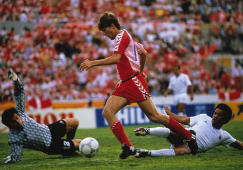 O golaço contra o Uruguai...