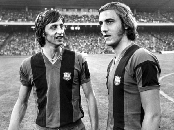 No Barça, novo encontro com Cruyff.