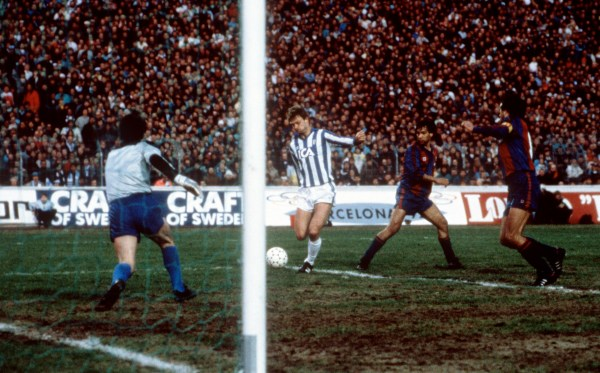 Em 1986, contra o Barça, o Göteborg jogou muito, mas sucumbiu na partida de volta.