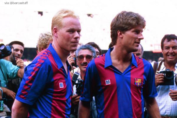 Koeman e Laudrup, reforços do Barça para uma era de ouro.