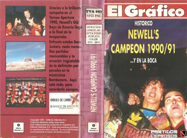 VHS El Grafico - Newell's Campeon 1990-1991 Y en La Boca