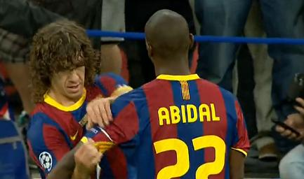 "Puyol ""veste"" Abidal..."