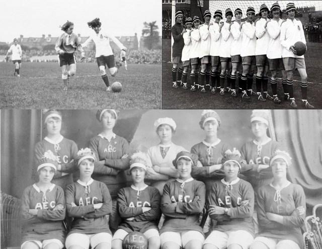 Quando o futebol feminino atraiu multidões durante a 1ª Guerra Mundial