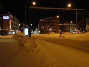 ロヴァニエミ市内の明け方