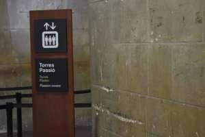 サグラダ・ファミリアのエレベーター