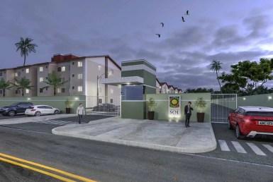 Village do Sol, apartamentos de 2 quartos, 44m, na Estrada da Maioba 20