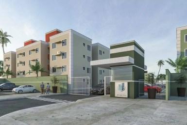 Village do Porto, apartamento no Turú, 2 quartos, 1 suíte, 47m², Minha Casa Minha Vida 17