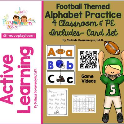 Football Themed ALPHABET PRACTICE for Classroom & PE