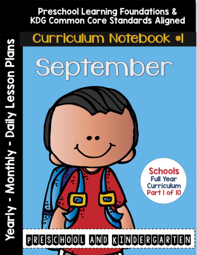 Sept Curriculum Notebook