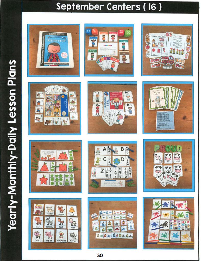September Curriculum Center activities
