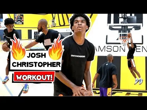 Josh Christopher & Brother Caleb *EXCLUSIVE* workout with LAKERS TRAINER 🔥
