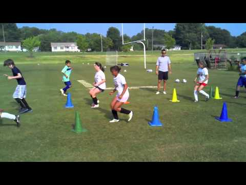 Footwork drills for youth speed and agility