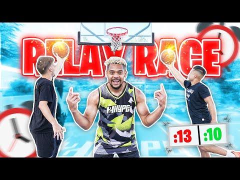 Ultimate NBA Basketball Shooting RELAY RACE Challenge !!
