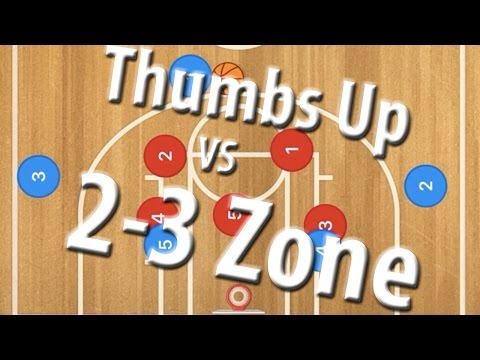 Thumbs Up Lob vs 2-3 Zone Defense   Youth Basketball Plays   Basketball Offense