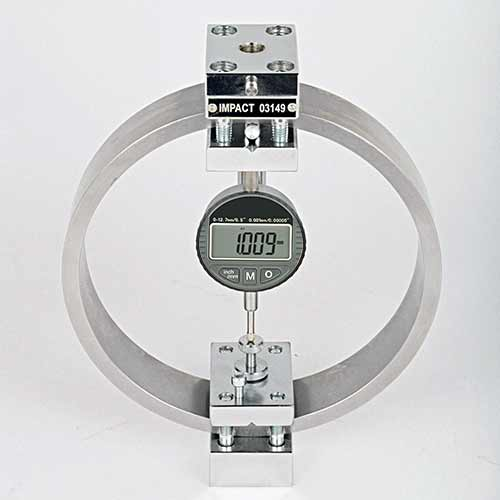 5kN Load Ring with clamped boss, digital dial gauge, RS232 ...