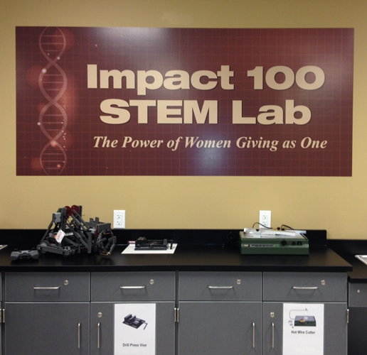 Impact 100 STEM Lab Sign